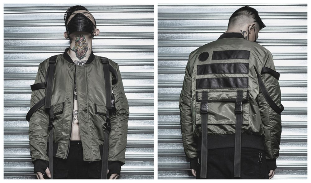 ma1 strap winter jacket lemi uk streetwear