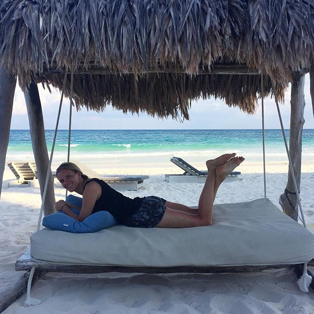 A week into our honeymoon, Lauren says it is just now beginning 😂 . . . #kweezyinlove #adventureswithkwee #tulum #travel #honeymoon