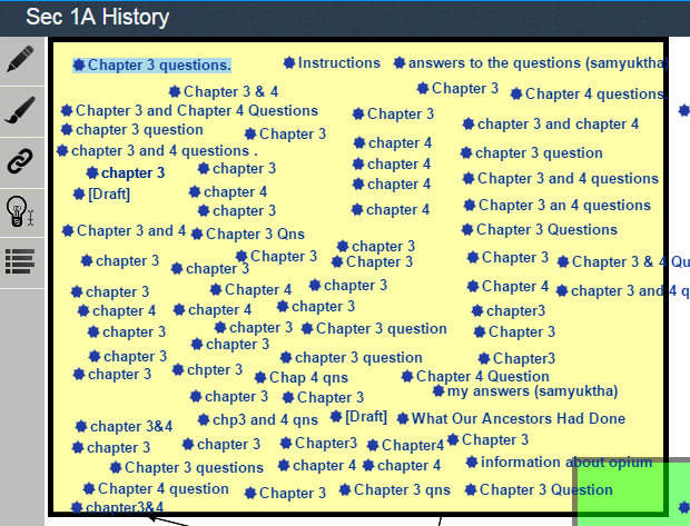 Fig. 1. Students' questions regarding the syllabus posted on KF.