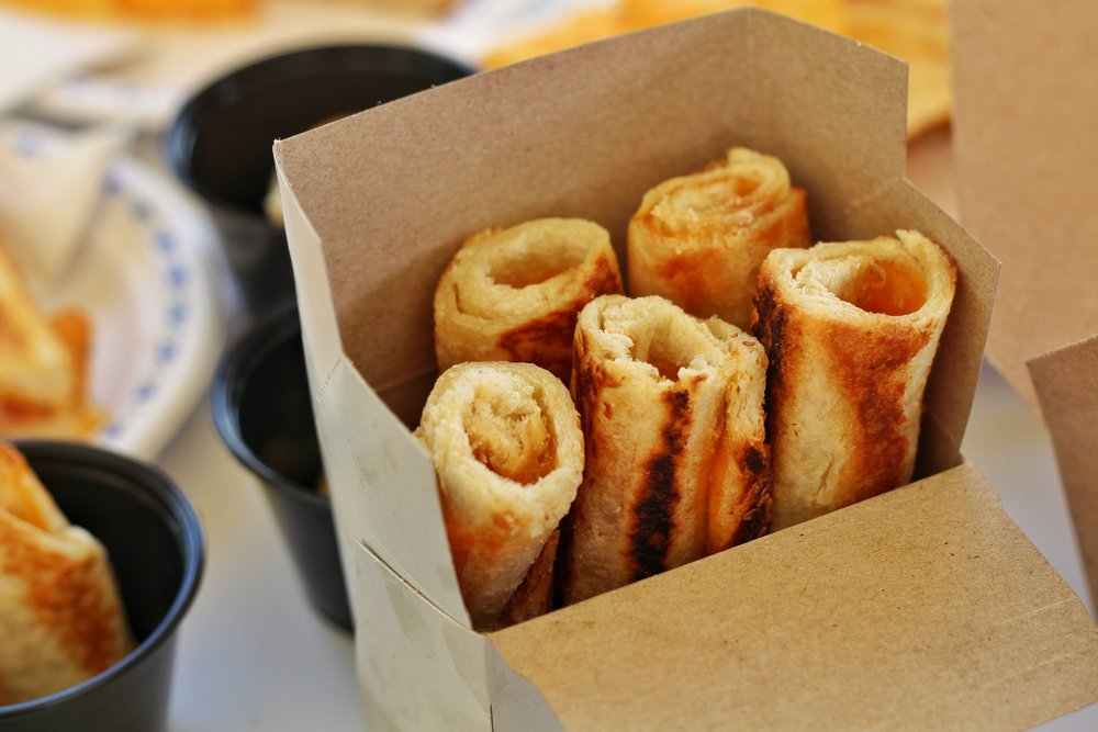 Grilled cheese, rolled up made for dipping, served with a sauce of your choice.