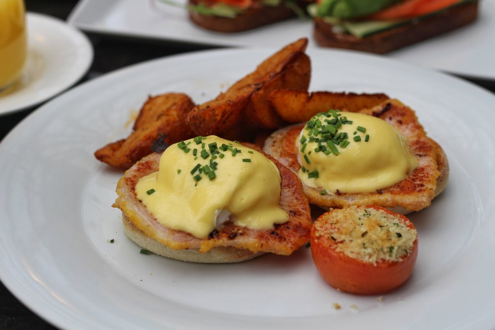 Eggs Benedict  - english muffin, peameal bacon, breakfast potatoes