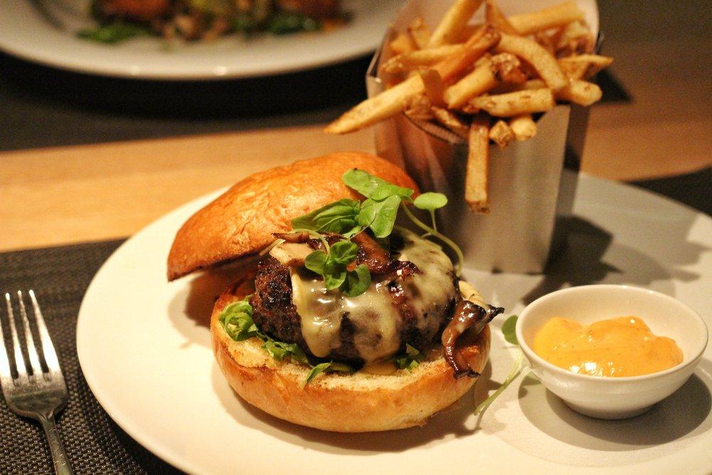 Bymark 7oz Burger  - brie, sauteed mushrooms, truffle aioili, crisp frites