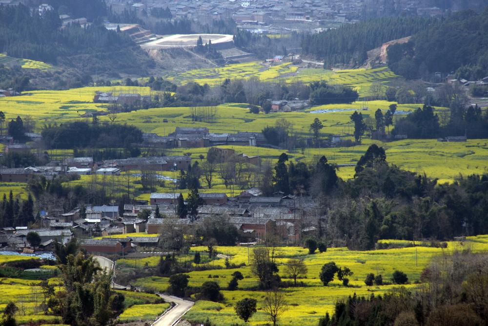 从高黎贡山上看博物馆 View from mountain