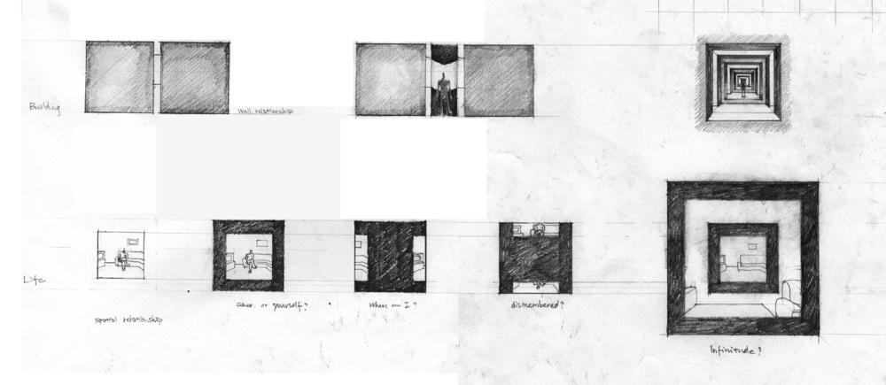 华黎在耶鲁的《空间奥德赛》作业之一:墙与空间的思考