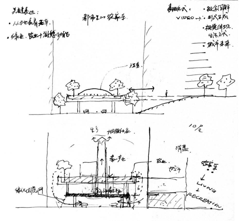 """迹.建筑事务所的""""街亩城市""""构想图"""