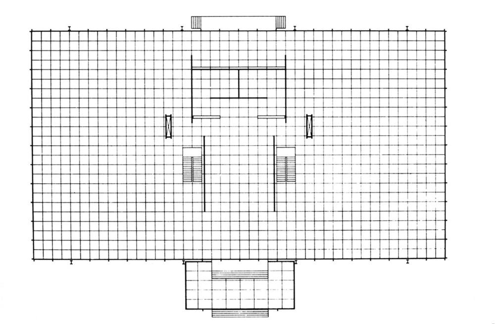 圖2 密斯:克朗樓平面