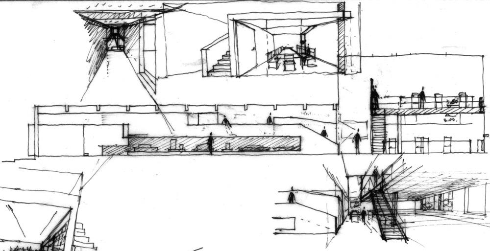 设计草图:夹层空间