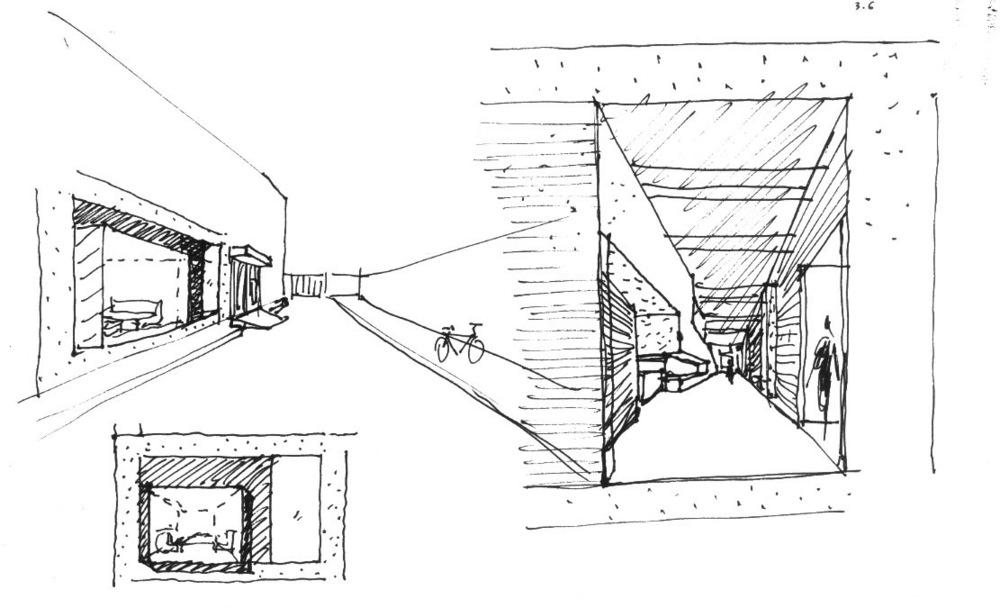 设计草图:入口立面