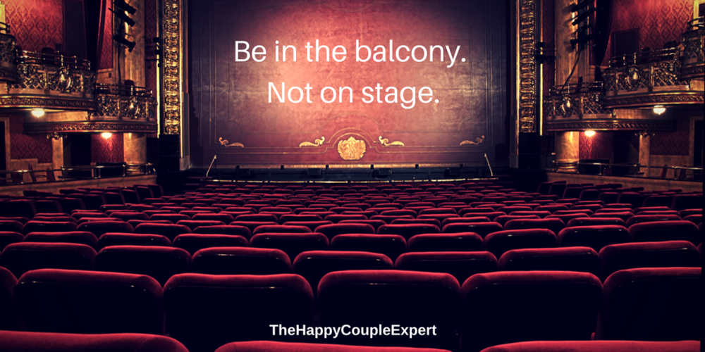 Be in the balcony