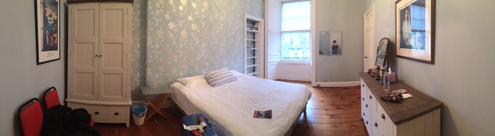 A panorama of my room in our flat!
