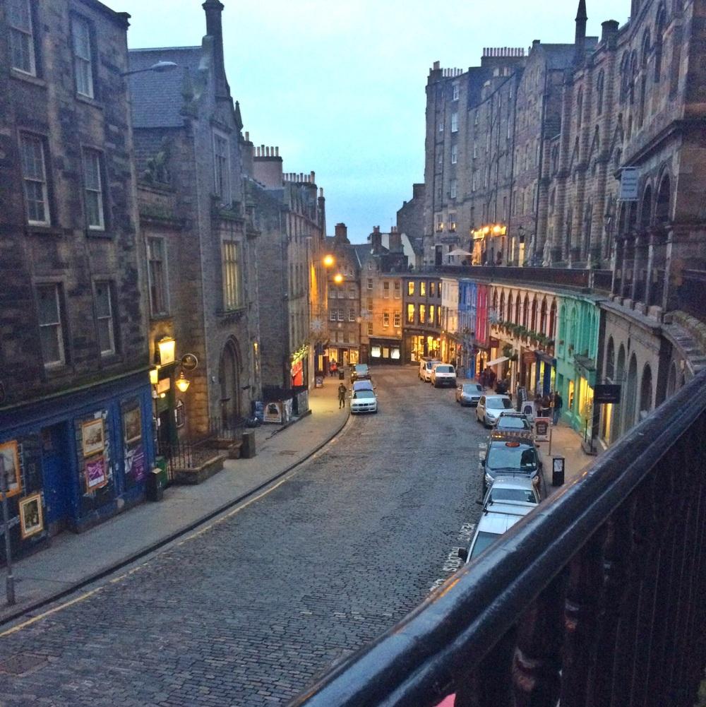 Victoria Street in Edinburgh.