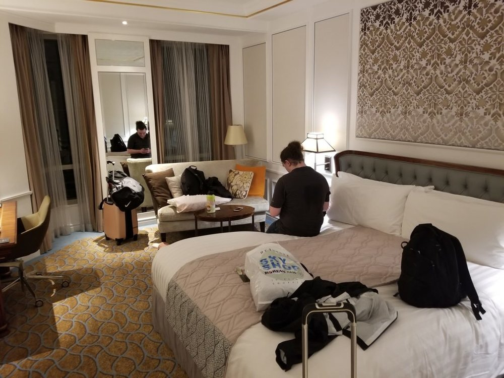 Intercontinental Hotel, a 5 star luxurious hotel we booked for 2 nights via points. So it was free….