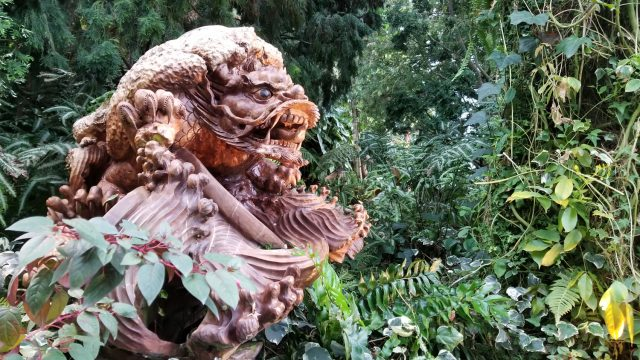 One of many gorgeous wood sculptures all over the park.