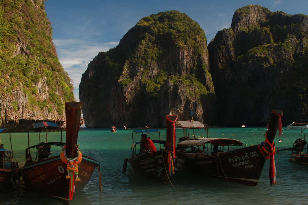 "Maya Bay and beach was featured in the movie ""The Beach"" with Leonardo Di Caprio. Since then it's popularity was swelled so much that up to 10,000 people visit daily. Going in the morning, we avoided most of the crowds."