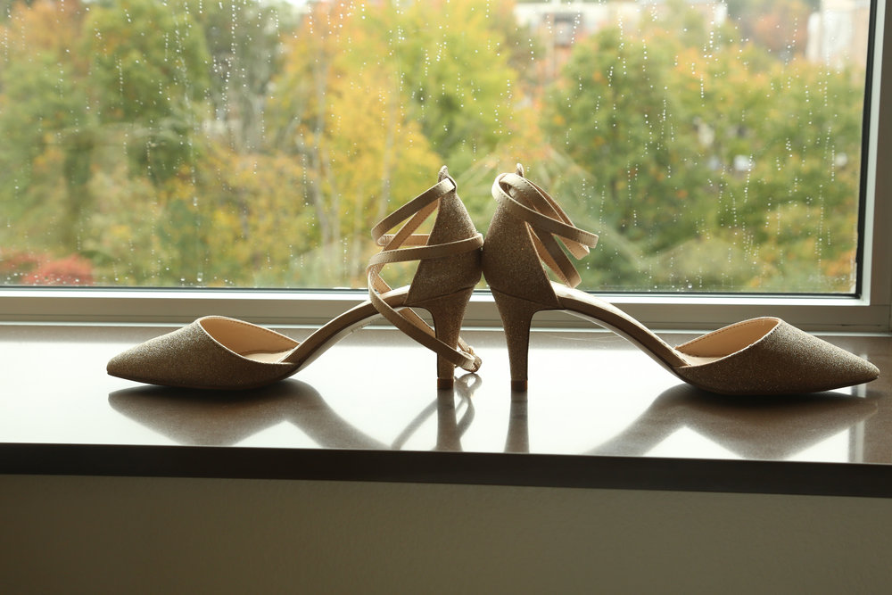 High heel shoes for brides