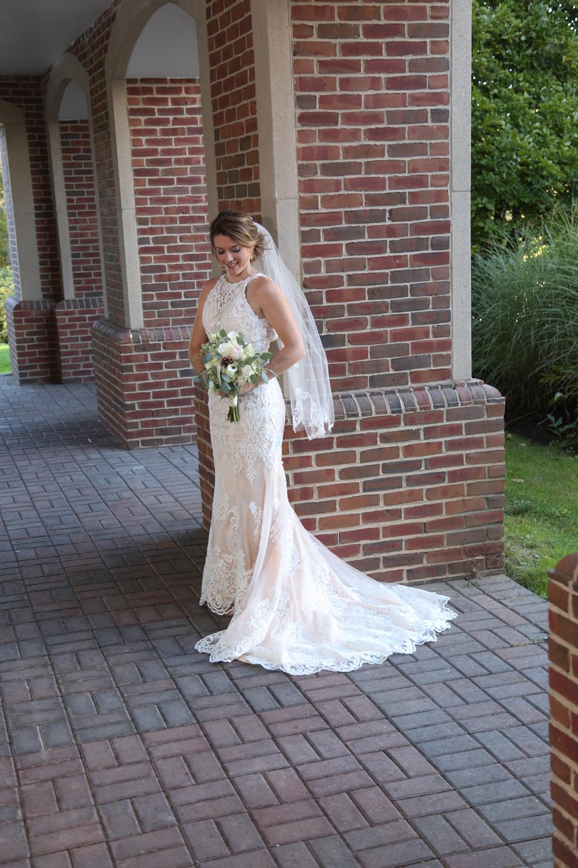 Bride portrait outside