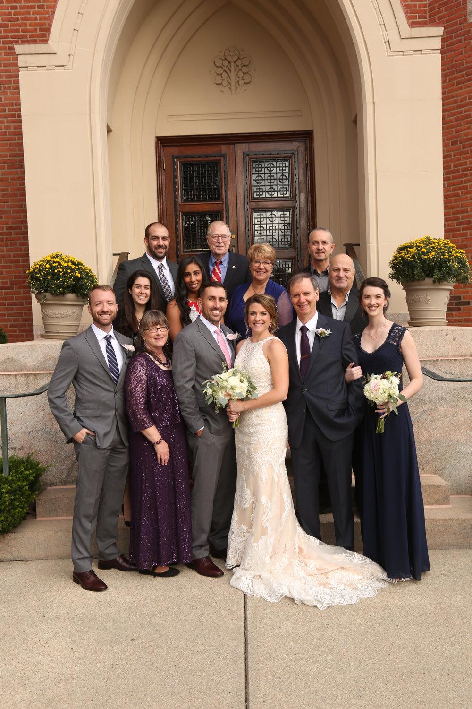 Formal family portrait photographer Oregon New England