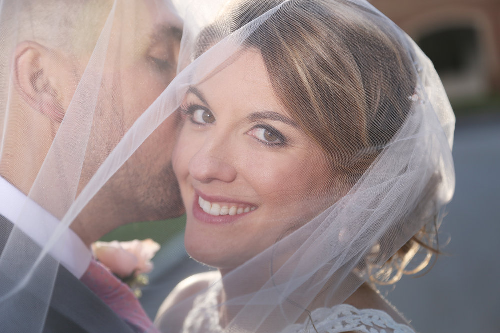 Smiling pretty bride professional photographers of Oregon