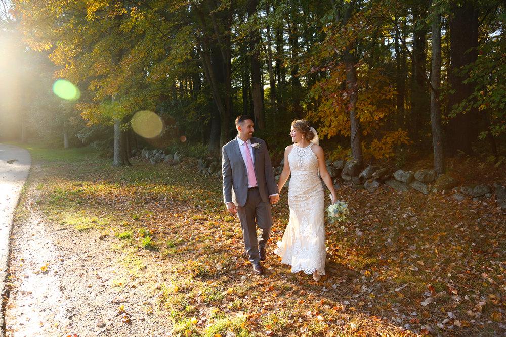 Fall leaves and wedding couple Eugene Oregon Photographer