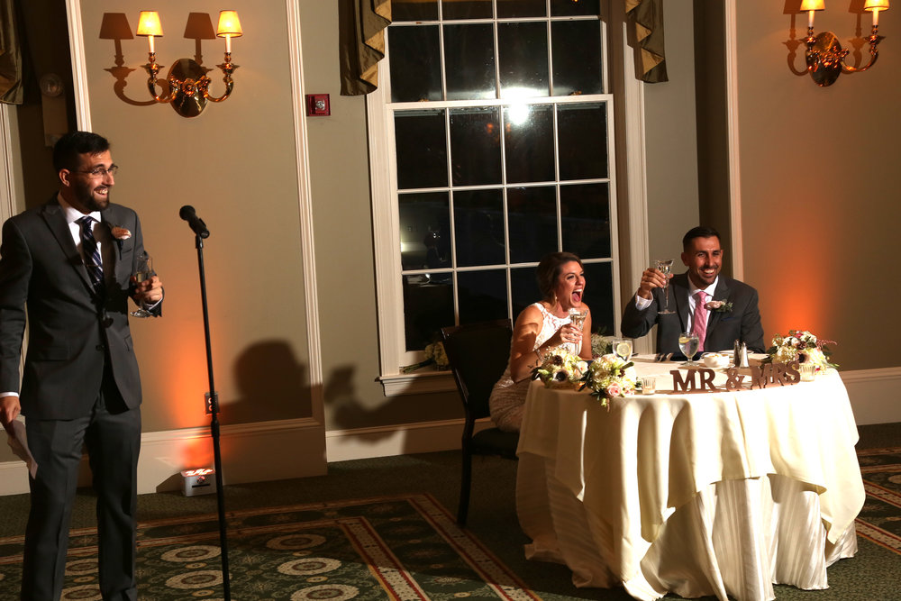 Toasts at wedding pictures