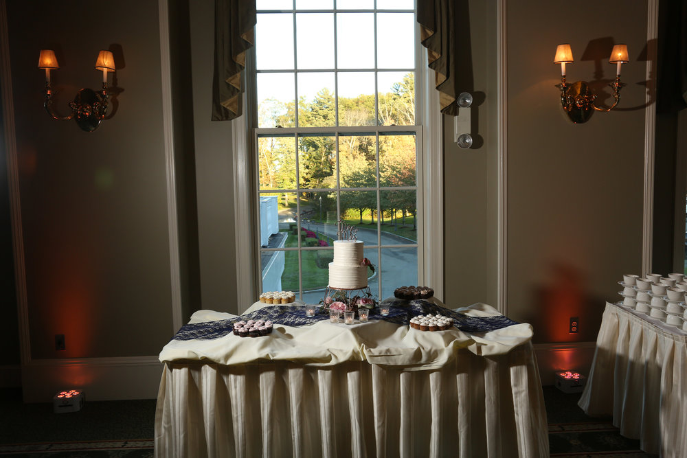 Cake table beautiful wedding venues near Boston Mass