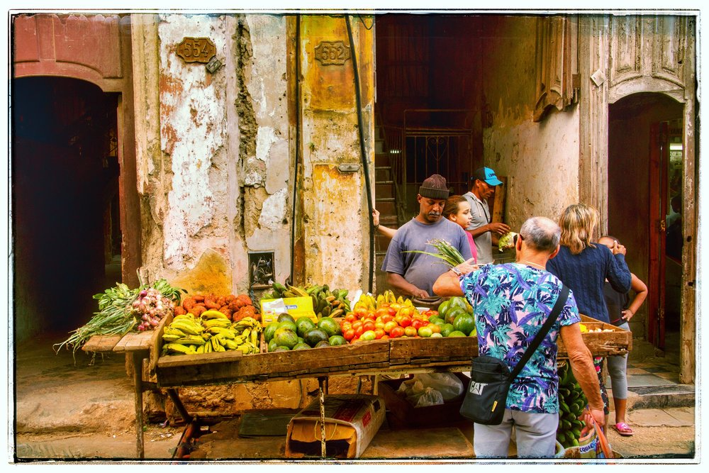 The local fruit and vegetable market. There are no stores for this.