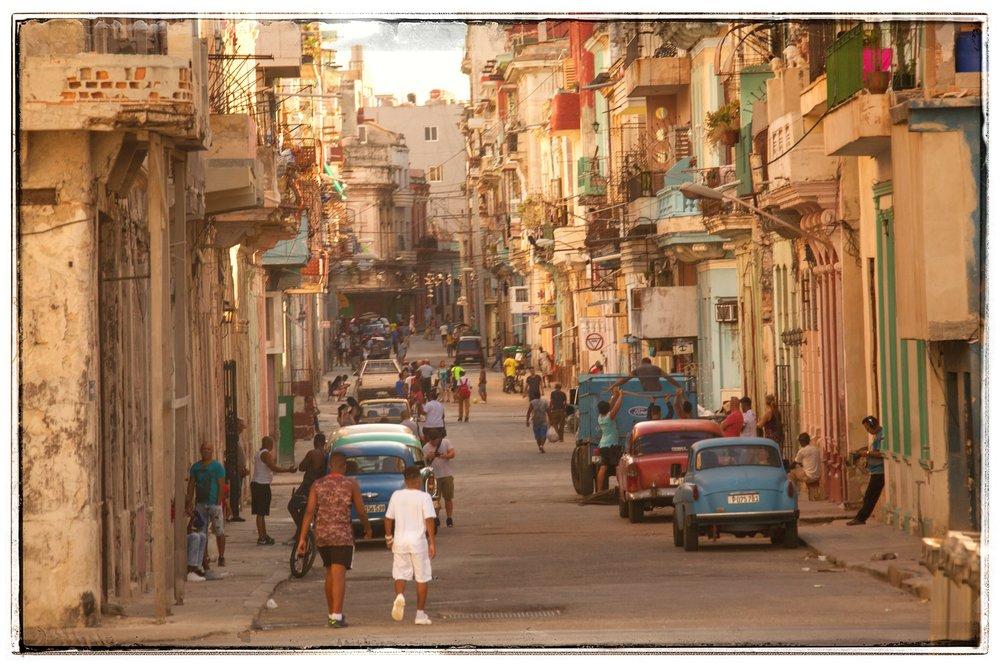 Typical street scene in old Havana.