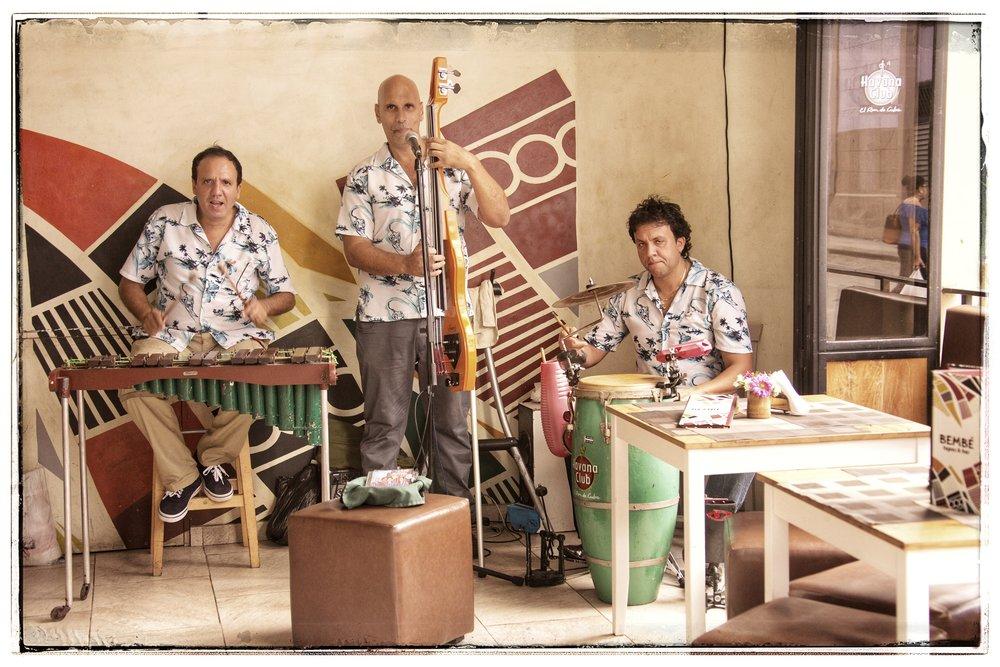 A Cuban band playing Salsa music.