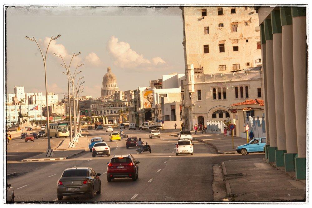 The downtown center part of Havana.