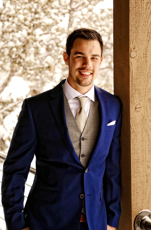 Handsome Groom in Bend Oregon Wedding
