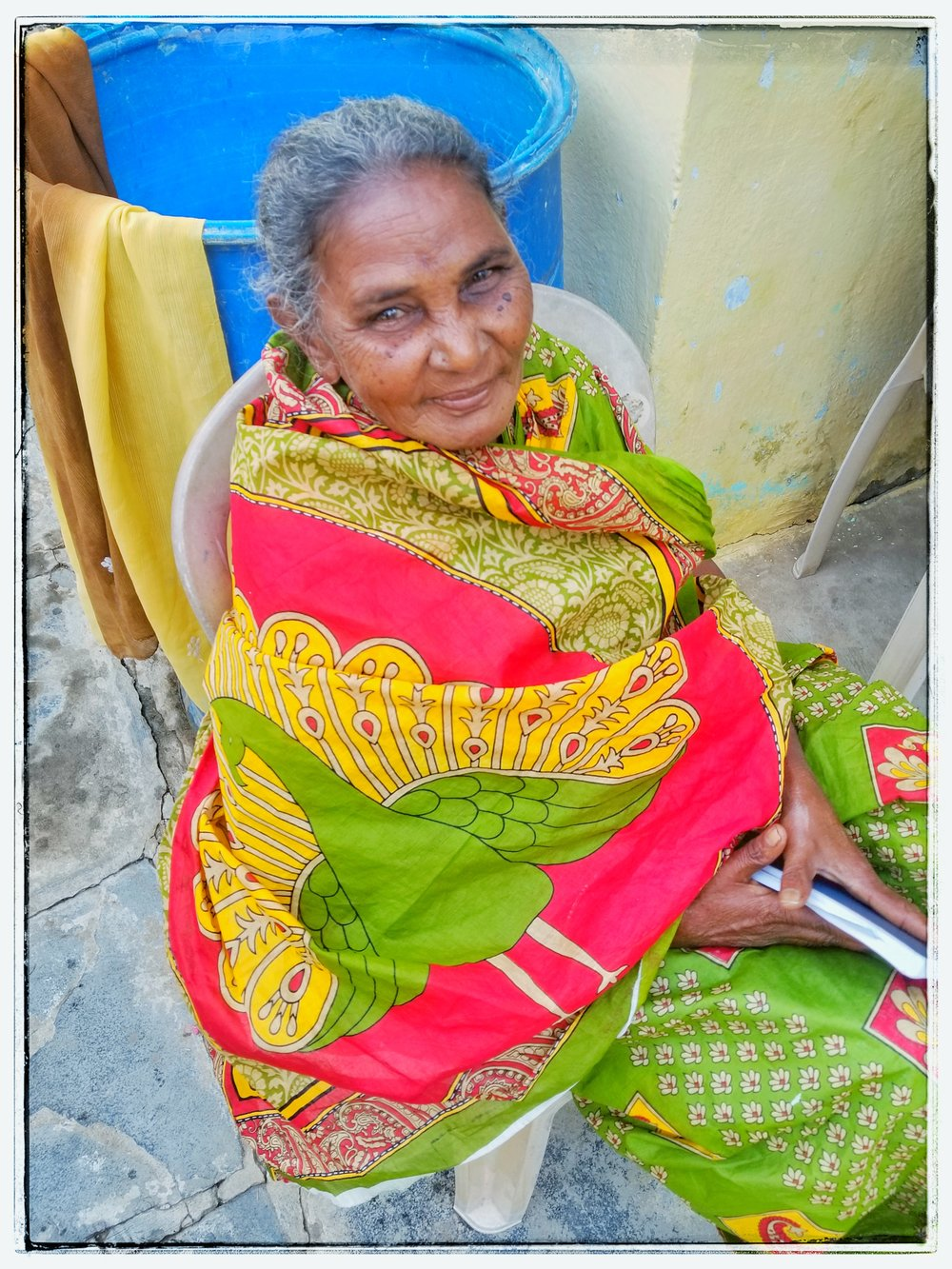 Widow in India. When a husband dies the oldest son gets everything and sometimes tosses his mom on the street.