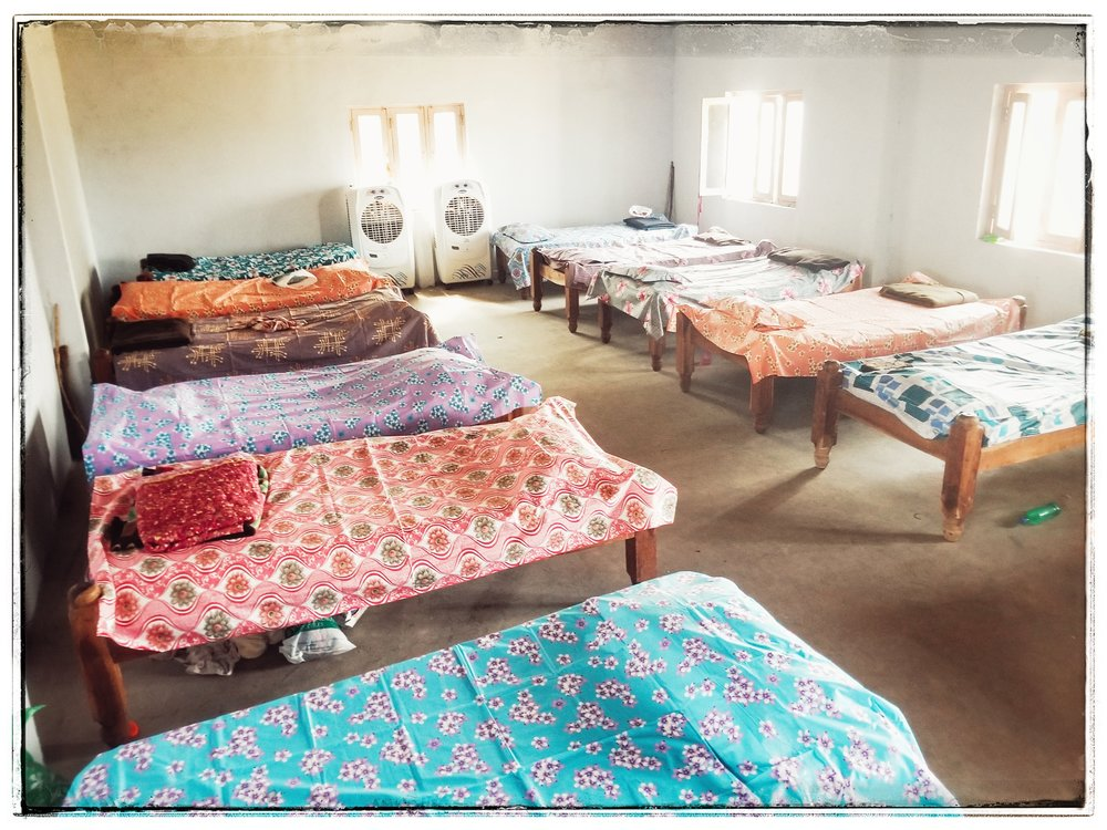 The beds for the widows.