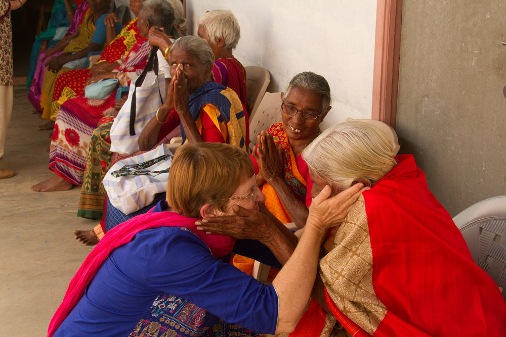 Loving the widows in India. I'd give names but India would then block their reentry next time because we're Christians.