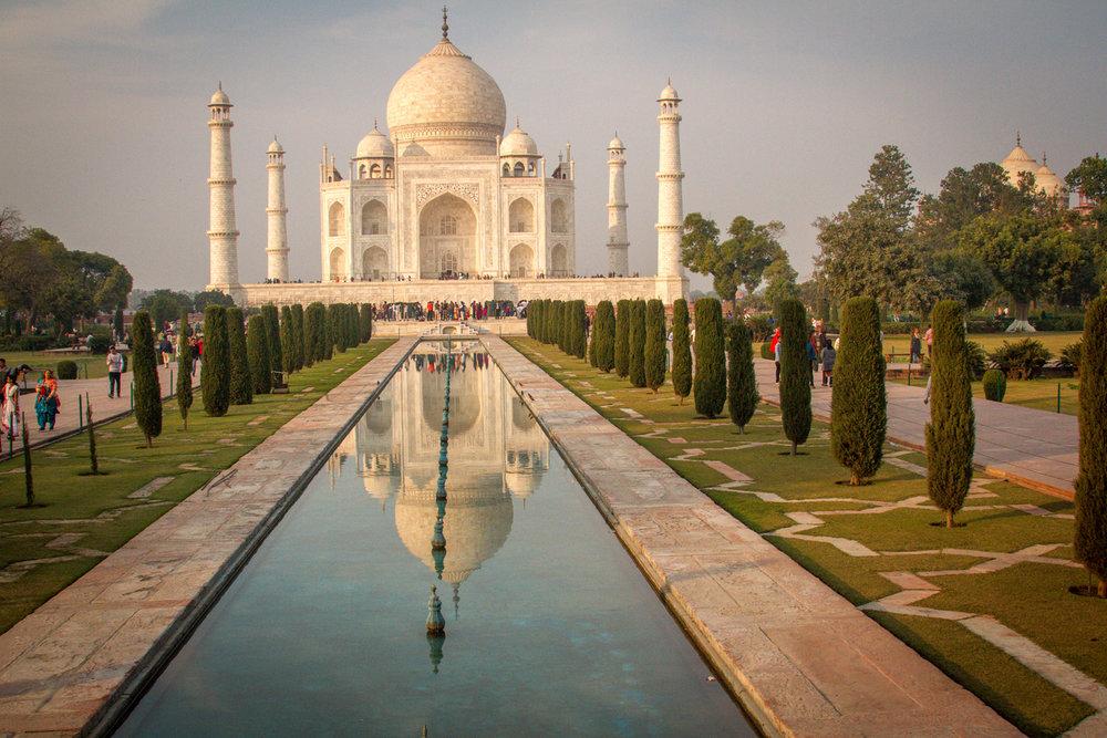Taj Mahal at Sunset Agra India photographs destination wedding photographers Eugene Oregon