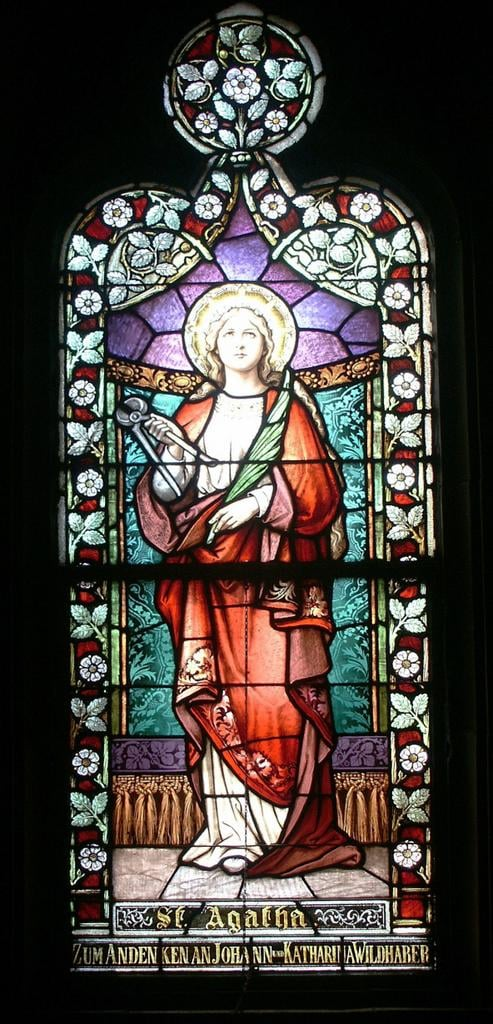 Saint Francis de Sales, window of Saint Agatha.jpg