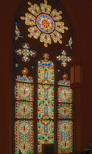 In the tradition of the European Gothic churches, St. Francis de Sales is adorned with a magnificent array of stained glass windows.