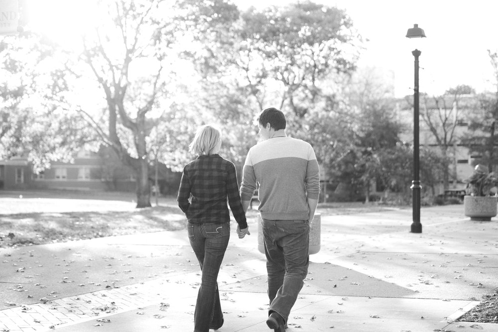 Fall University Engagement Photos by Cleveland Wedding Photographer Matt Erickson Photography