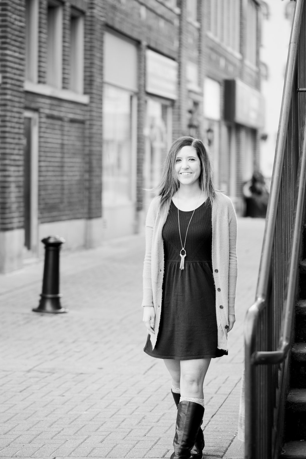 Senior pictures in downtown Wooster, Ohio by Cleveland Senior Photographer Matt Erickson Photography