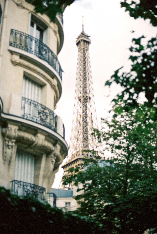 The Eiffel Tower in Paris, France by Destination Wedding Photographer Matt Erickson Photography