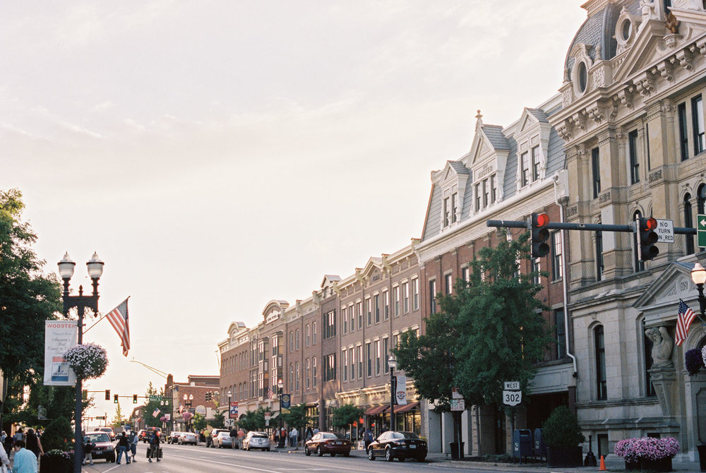 Downtown Wooster, Ohio by Wooster Wedding Photographer Matt Erickson Photography