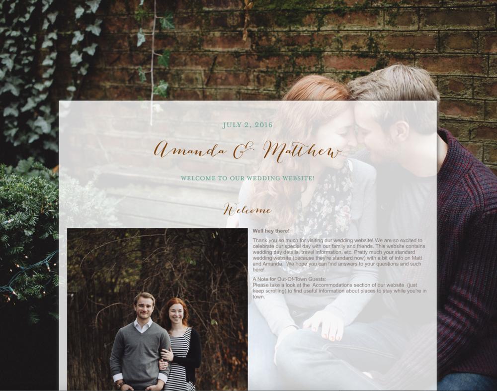 Wedding Website, Cleveland Wedding Photographer Matt Erickson Photography
