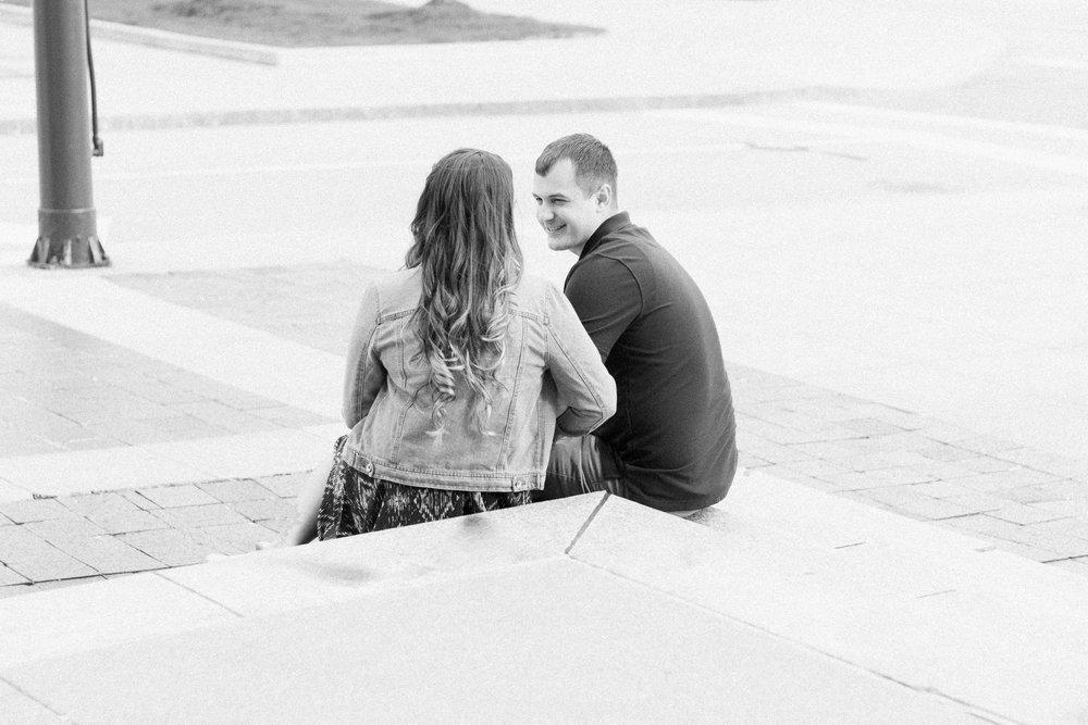 Downtown Cleveland Engagement Photos by Cleveland Wedding Photographer Matt Erickson Photography