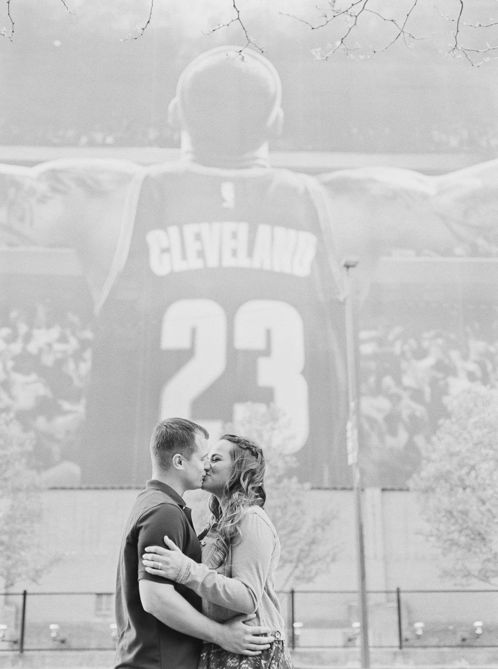Cleveland Cavaliers Engagement Photos by Cleveland Wedding Photographer Matt Erickson Photography
