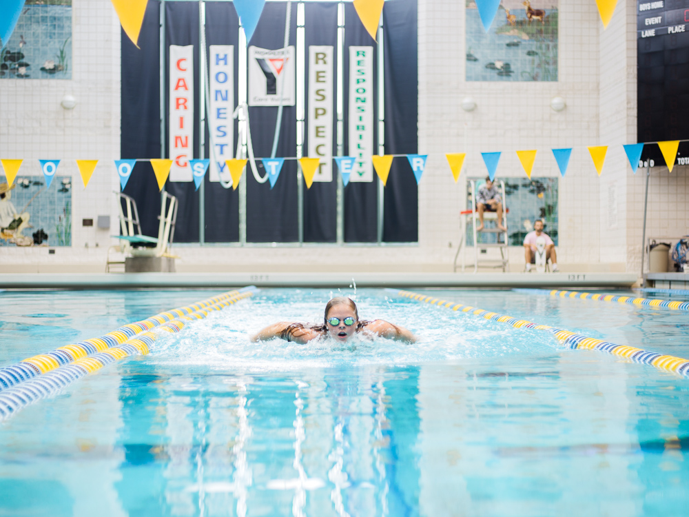 Wooster High School Swimming Senior Pictures by Cleveland Wedding Photographer Matt Erickson Photography