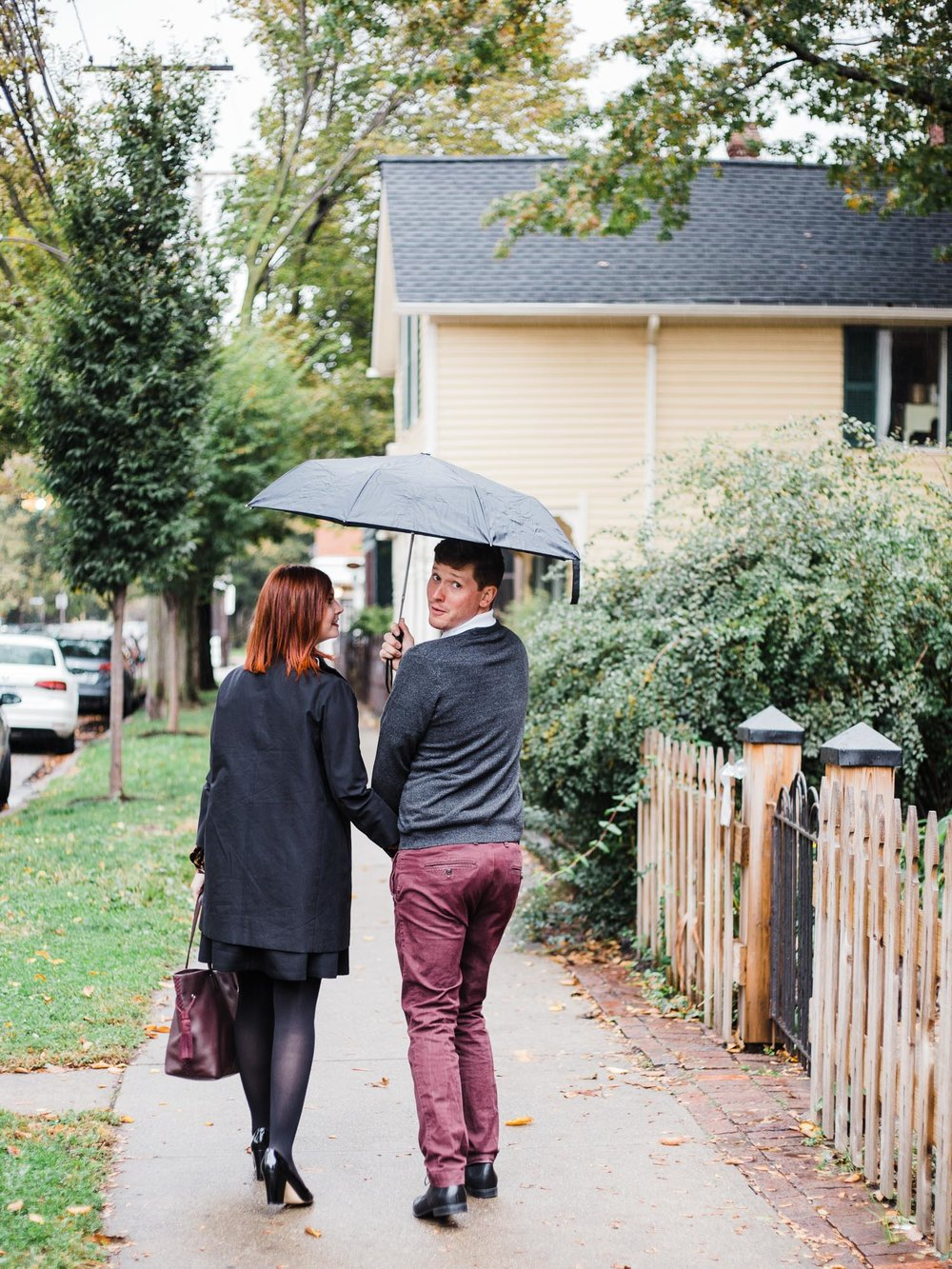 Rainy Day Ohio City Engagement Photos by Cleveland Wedding Photographer Matt Erickson Photography