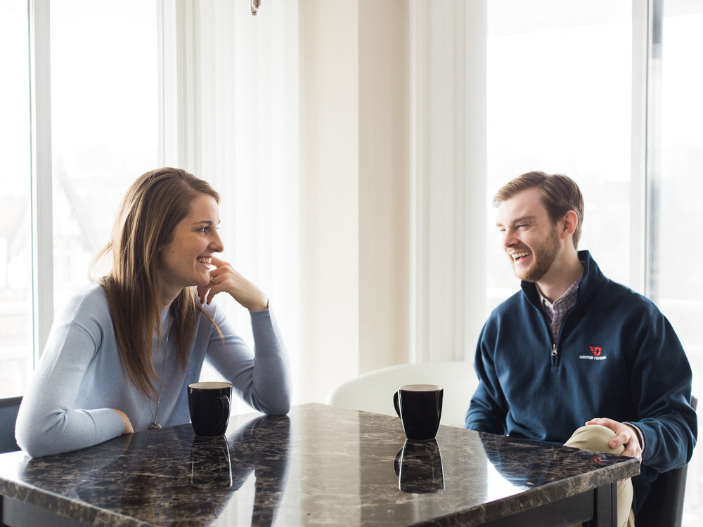 In Home Engagement Session by Cleveland Wedding Photographer Matt Erickson Photography