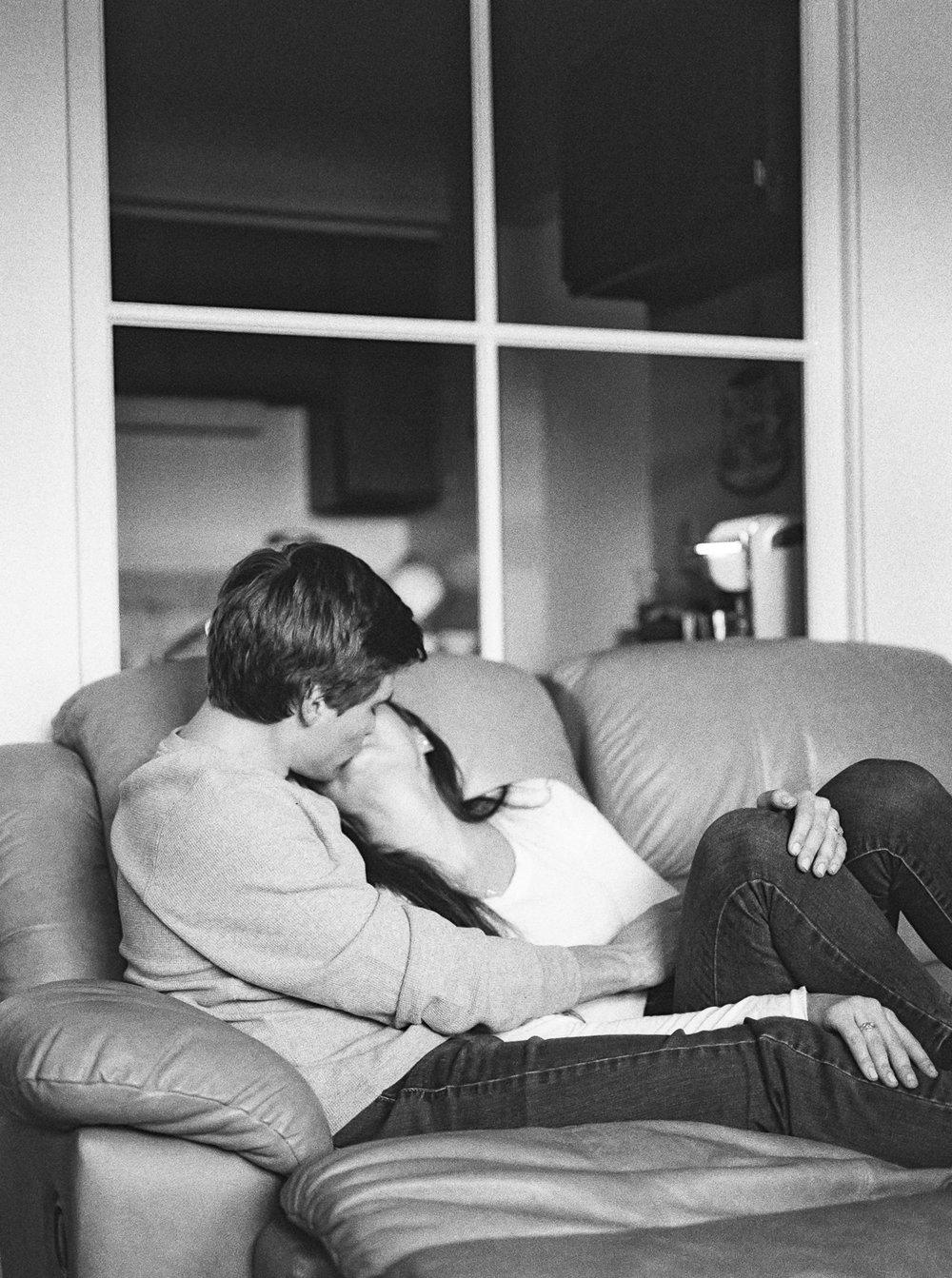 Intimate Engagement Photos At Home by Cleveland Wedding Photographer Matt Erickson Photography