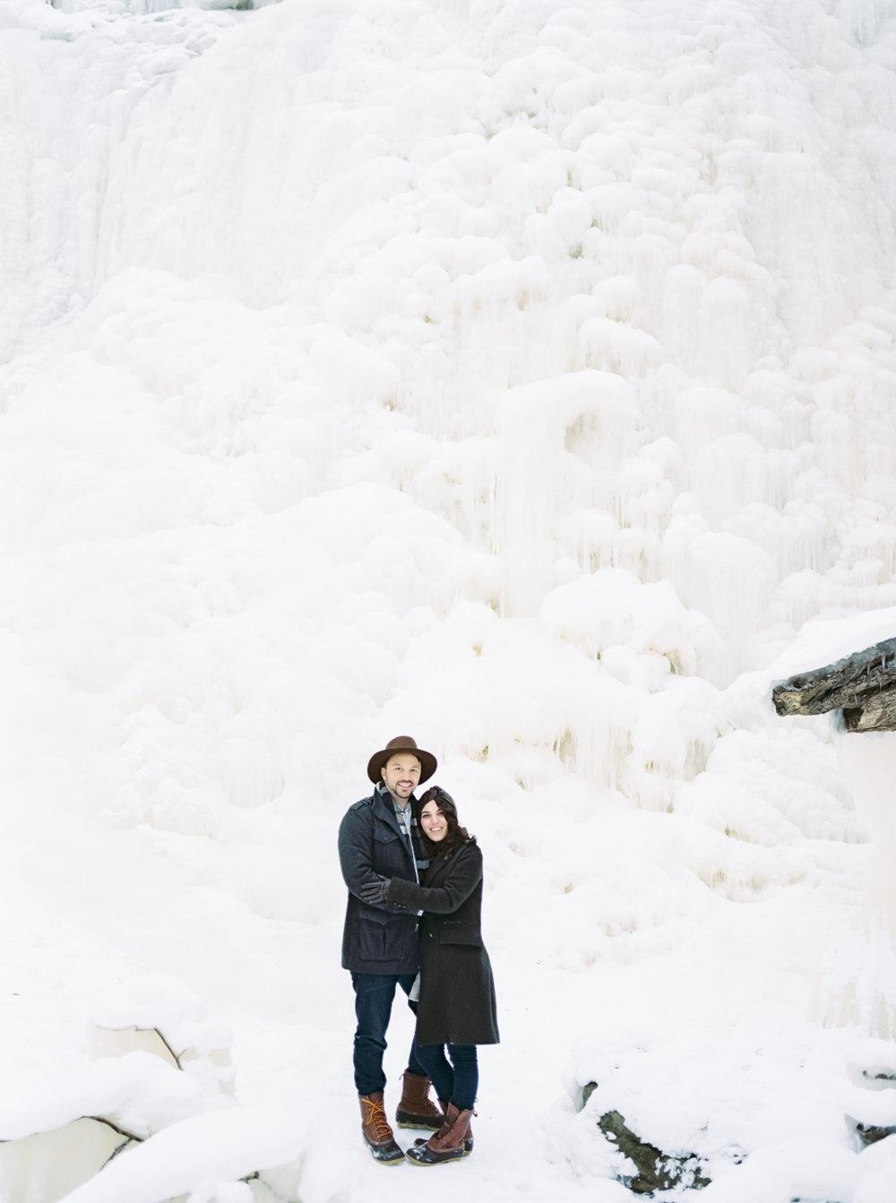 Frozen Brandywine Falls Photos by Cleveland Wedding Photographer Matt Erickson Photography