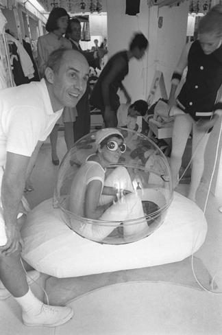 Andre Courreges and his wife Coqueline, 1969