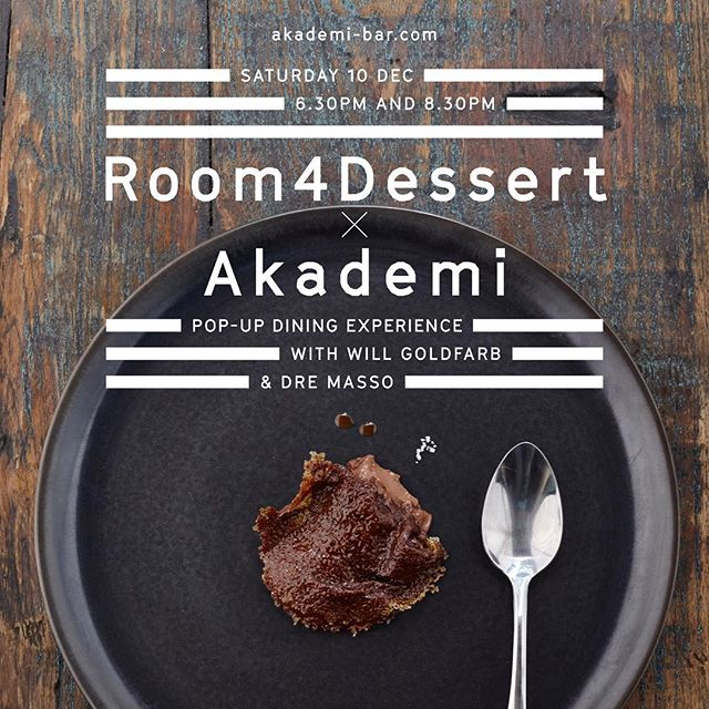 Its going to be sweet, its going to be boozy. @room4dessert_wg is coming to Seminyak for a one night only pop-up dining experience at Akademi. Click link in our bio to find out more. ➖➖➖ IDR 700,000 net per person Including 5 course dessert degustation menu with cocktail pairings.  #akademibar #mixology #dessert #event